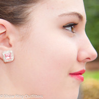Square Crystal Earrings, 16 colors