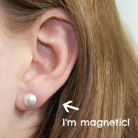Non-Pierced Magnetic Earrings, Pearl