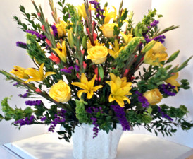 Golden Sympathy Spray - Online Flower Delivery Highland Park IL - Jan Channon Flowers