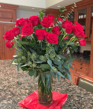 Two dozen red roses - Red freedom roses - Flowers For Delivery Highland Park IL - Jan Channon Flowers