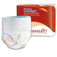 "Tranquility Premium OverNight Disposable Absorbent Underwear Large 44"" - 54"" BG 16"