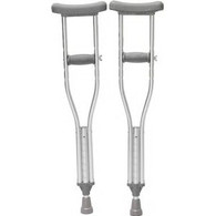 """Youth Push Button Crutches, 52"""" - 62"""" Height Adjustment, 300 lb. PR 2"""