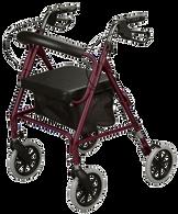 Rollator, Soft Seat, Burgundy EA 1