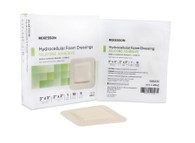 Silicone Foam Dressing McKesson 3 X 3 Inch Square Adhesive with Border Film Backing Sterile (48042100)