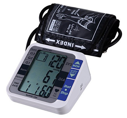 GoW USA Digital Upper Arm Blood Pressure Monitor with Hypertension Risk Indicator & Irregular Heartbeat Detection, FDA Approved (GW100)
