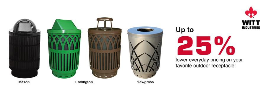 Witt Industries Trash Receptacles