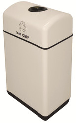 12 Gallon Fiberglass One Opening Recycling Bin with Plastic Liner