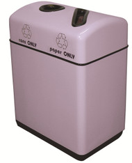 24 Gallon Fiberglass Two Opening Recycling Bin with Plastic Liner