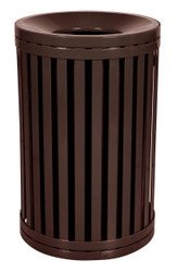 South Hampton 45 Gallon Outdoor Side Gate Or Top Opening Trash Can Brown