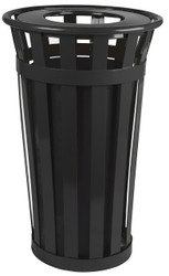 Witt Industries 24 Gallon Oakley M2401FT Outdoor Waste Receptacle Black