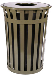 Witt Industries 36 Gallon Oakley M3601FT Outdoor Waste Receptacle Brown