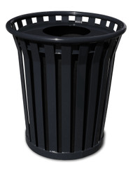 Witt 24 Gallon WC2400FT Outdoor Waste Receptacle Black
