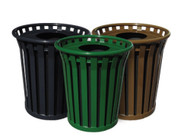 24 Gallon Witt Wydman WC2400FT Outdoor Waste Receptacle 4 Colors