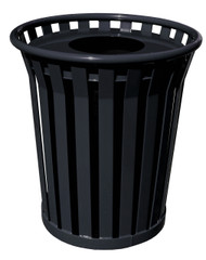 Witt 36 Gallon WC3600FT Outdoor Waste Receptacle Black