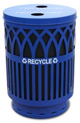 Witt 40 Gallon Covington Metal Outdoor Recycling City Trash Can