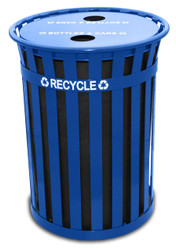 Witt Oakley 50 Gallon Extra Large Recycling Outdoor City Trash Can