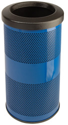 Stadium Series 10 Gallon Painted Stainless Steel Trash Container Blue
