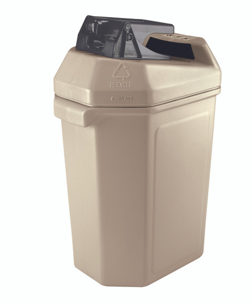 30 Gallon Aluminum Can Crusher Indoor Recycling Station