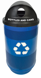 Witt Industries 55 Gallon Perforated Metal Recycling Trash Container