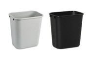 28 Quart Home or Office Plastic Wastebasket Black or Gray 28Q-BKGY (2 Pack)