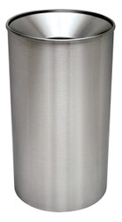 Excell 33 Gallon Metal Indoor Outdoor Stainless Steel Funnel Trash Can
