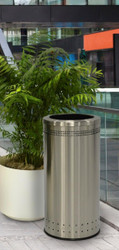 25 Gallon Stainless Steel Trash Can Without Swivel Lid