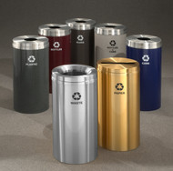 12 Gallon Metal Recycling Trash Can 29 Finishes 4 Recycling Choices with Liner