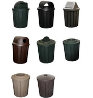 42 Gallon Kolor Can Heavy Duty Trash Receptacles