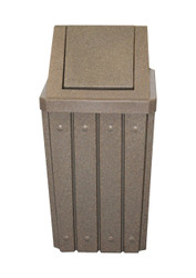 Kolor Can Signature 32 Gallon Heavy Duty Trash Receptacle with Swing Lid