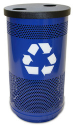 Witt Industries 35 Gallon Perforated Metal Recycling Trash Can