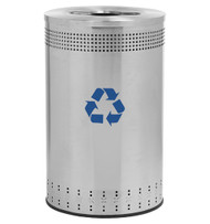 45 Gallon Precision Series Imprinted Stainless Steel Recycling Trash Can