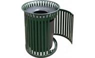 25 Gallon Metal Outdoor Waste Receptacle with Side Door MF3202