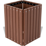 Square Wood or Plastic Trash Can No Lid