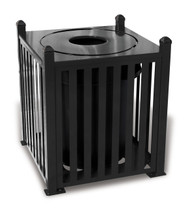32 Gallon Ultra Site Savannah Outdoor Square Trash Container