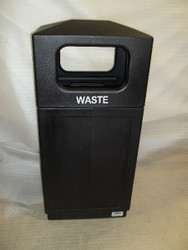 39 Gallon Indoor Outdoor Forte Dome Top Plastic Waste Can Black