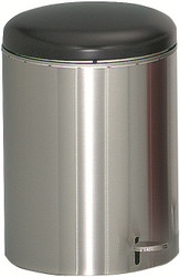 4 Gallon Stainless Steel Step Can UL Listed OSHA Compliant Steel Liner