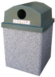 30 Gallon Open Top Outdoor Concrete Recycling Garbage Can