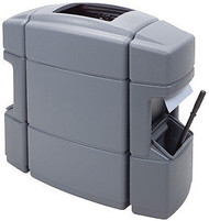 40 Gallon Double Sided Gas Station Trash Can Shell Gray