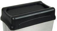 Black Drop Top Lid for Stainless Steel Rectangular Waste Receptacle 70SS