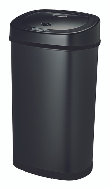 13 gallon touchless automatic black kitchen trash can dzt