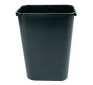 10 Gallon Plastic Office Desk Side Wastebaskets Black (8 Pack)