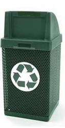38 Gallon Square Metal Mesh Custom Logo Push Door Trash Can CLMF3052