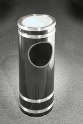 Monte Carlo Ash Trash Receptacle Sand Cover Top Satin Aluminum Cover