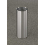 7 Gallon 9 x 23 Open Top Home Office Wastebasket Satin Aluminum