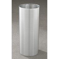 11 Gallon 12 x 23 Open Top Office Wastebasket Satin Aluminum