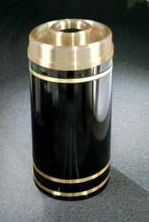 Monte Carlo D1555 Donut Top Ash Trash Receptacle Satin Brass Cover