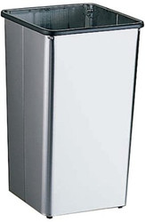 13 Gallon Metal Stainless Steel Square Trash Can Base 13HSS