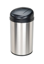 Touchless Automatic Trash Can Stainless Steel Round 11 Gallon
