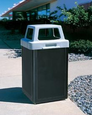 24 Gallon Plastic Indoor Outdoor Waste Container TF1019PSW