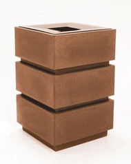 36 Gallon Square 3 Tier Plastic Indoor Outdoor Trash Can TF1071